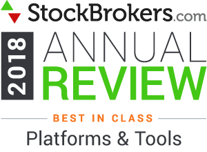 Interactive Brokers reviews: 2018 Stockbrokers.com Awards - rated Best in Class in 2018 for Platforms & Tools